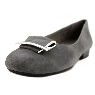 Aerosoles Good Times Women Round Toe Suede Gray Flats