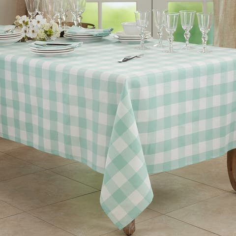 Casual Tablecloth With Buffalo Plaid Design