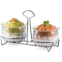 Chips and Dips Condiments Server Cups Chilled On Ice Dispenser