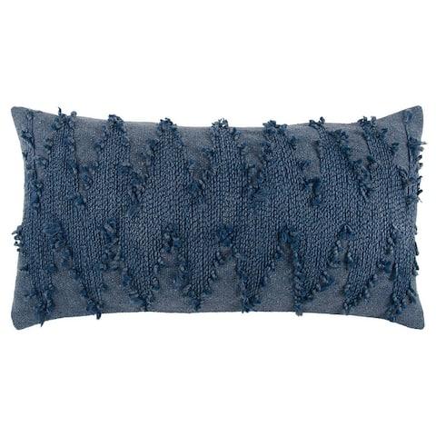 "Rizzy Home Indigo Deconstructed Chevron Decorative Pillow 14"" x 26"""