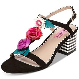 Betsey Johnson Womens Andey Open Toe Special Occasion T-Strap Sandals