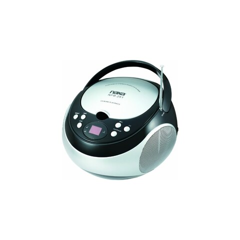 Naxa NAXNPB251BKb NAXA Electronics NPB-251BK Portable CD Player with AM/FM Stereo Radio