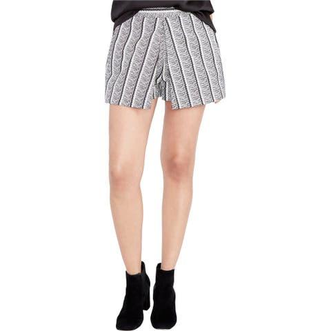 Rachel Roy Womens Printed Casual Skort Shorts, black, 0