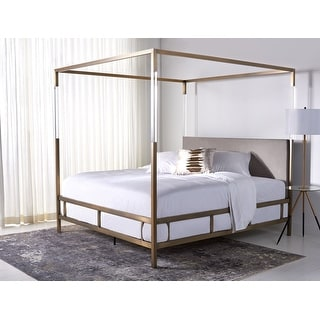 Link to Safavieh Couture Dorothy Acrylic Canopy Bed Similar Items in Bedroom Furniture