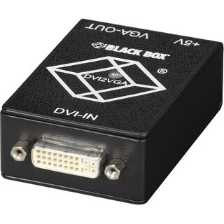 """Black Box AC1038A Black Box DVI-D to VGA Converter - Functions: Signal Conversion - VGA - DVI - 1 Pack"""