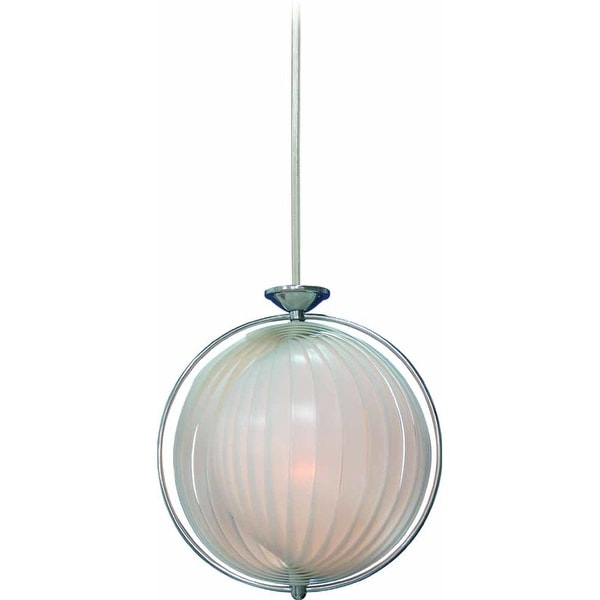 "Volume Lighting V1943 3-Light Bowl Shaped 25.5"" Height Pendant with Alabaster Glass Shade - Chrome"
