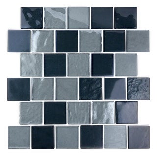 "Miseno MT-SCENERY2SQ  Scenery - 2"" X 2"" - Glass Visual - Wall Tile (Sold by Sheet)"