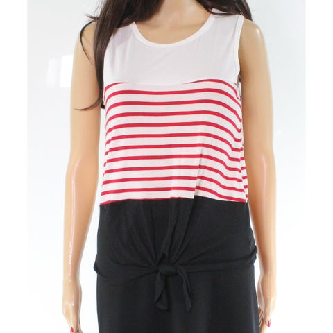 Moa Moa White Blue Red Striped Women's Size Small S Tank Cami Knit Top