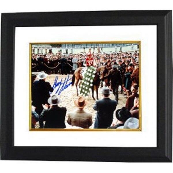0cfd85def44 Shop CTBL-BW9029a Gary Stevens Signed Horse Racing Winners Circle From -  Free Shipping Today - Overstock.com - 23918741