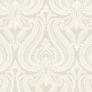 Brewster 2535-20622 Imperial Grey Modern Damask Wallpaper