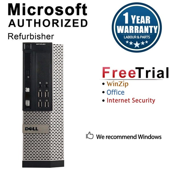 Dell OptiPlex 990 Desktop Computer SFF Intel Core I3 2100 3.1G 8GB DDR3 1TB Windows 7 Pro 1 Year Warranty (Refurbished) - Black