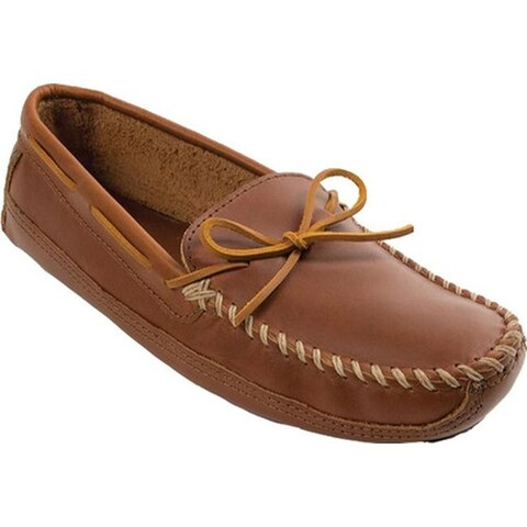 Minnetonka Men's Double Bottom Cowhide Driving Moc Chestnut Lariat