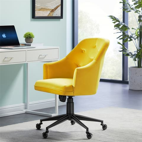 Velvet Office Chair, Adjustable Height Task Desk Chair