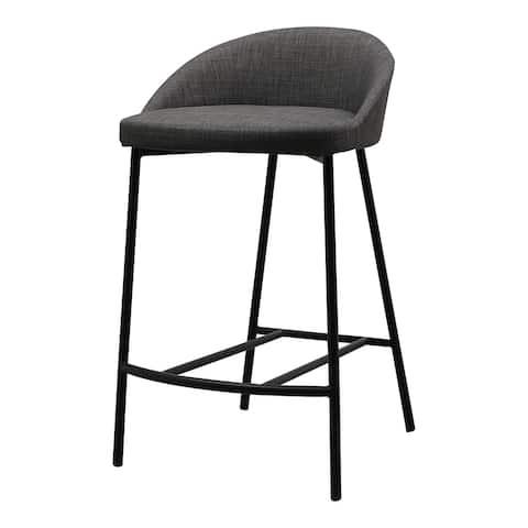Aurelle Home Cali Iron Frame Upholstered Counter Stool