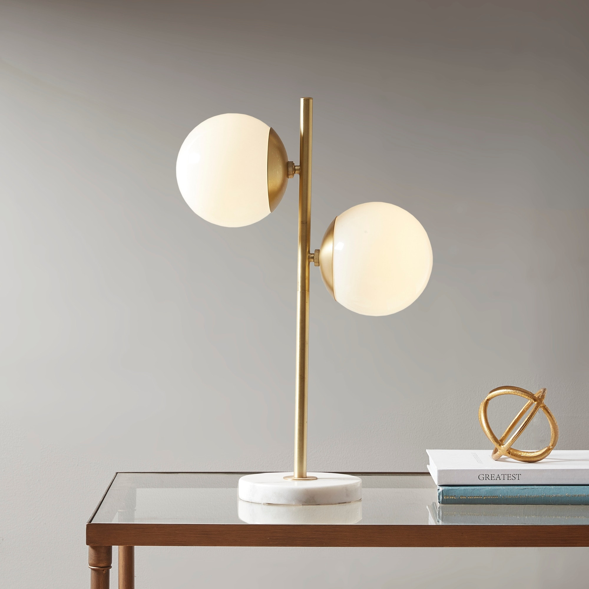 Holloway Table Lamp With White Round Shade By Ink Ivy N A On Sale Overstock 19429587 Gold
