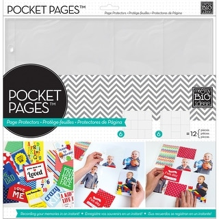 "Me & My Big Ideas Pocket Pages Protectors 12""X12"" 12/Pkg-Assortment #1"