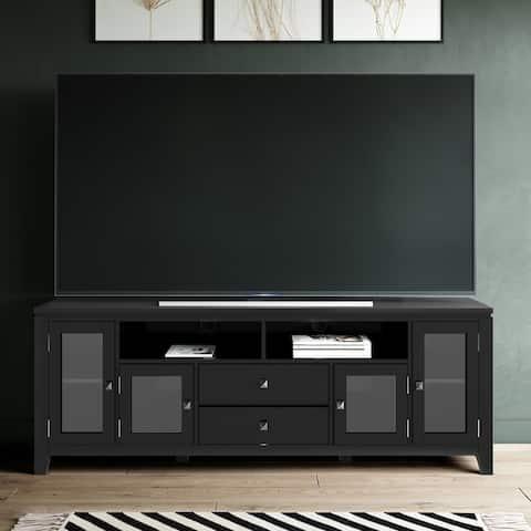 WYNDENHALL Essex Wood Contemporary TV Media Stand