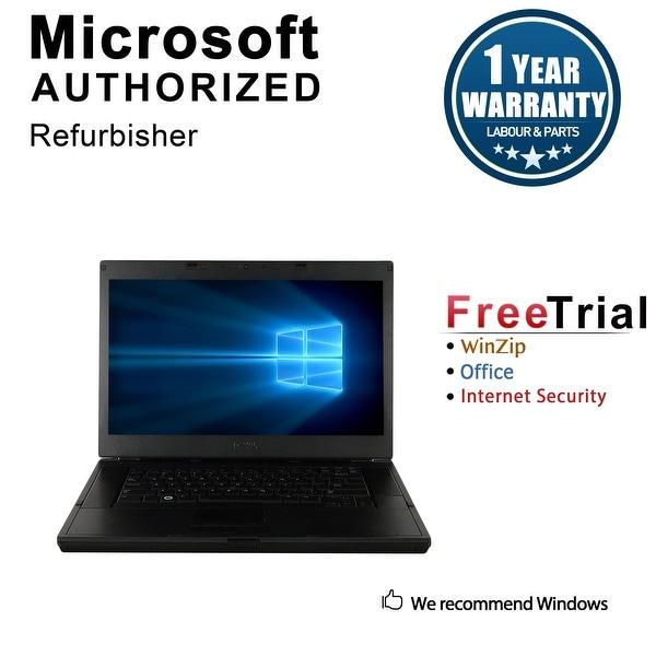 "Refurbished Dell Latitude E6510 15.6"" Laptop Intel Core i5 520M 2.4G 4G DDR3 250G DVD Win 10 Pro 1 Year Warranty - Silver"
