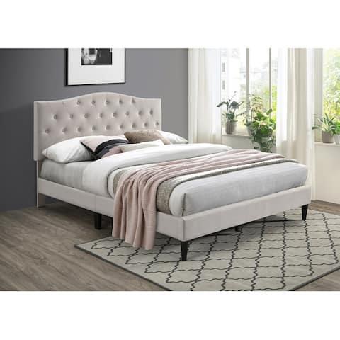 Ovis Grace Button Tufted Platform Bed, Upholstered Bed
