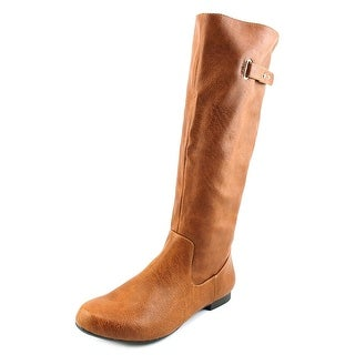 Style & Co Mabbel Round Toe Leather Knee High Boot