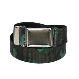 CTM® Kids' Magnetic Buckle Camo Print Elastic Stretch Belt - One Size