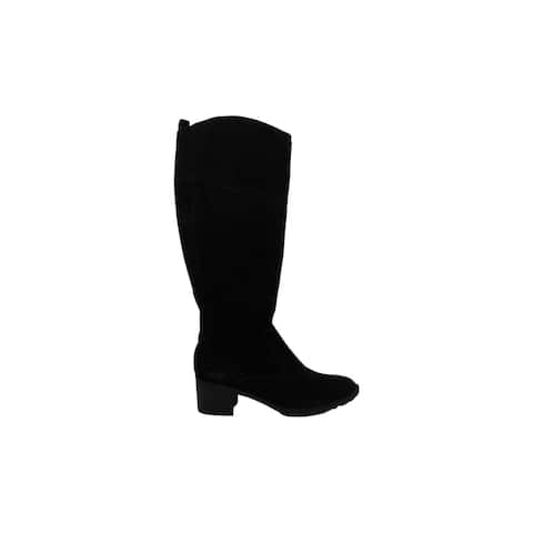 Easy Spirit Womens Grazes Leather Almond Toe Knee High Fashion Boots