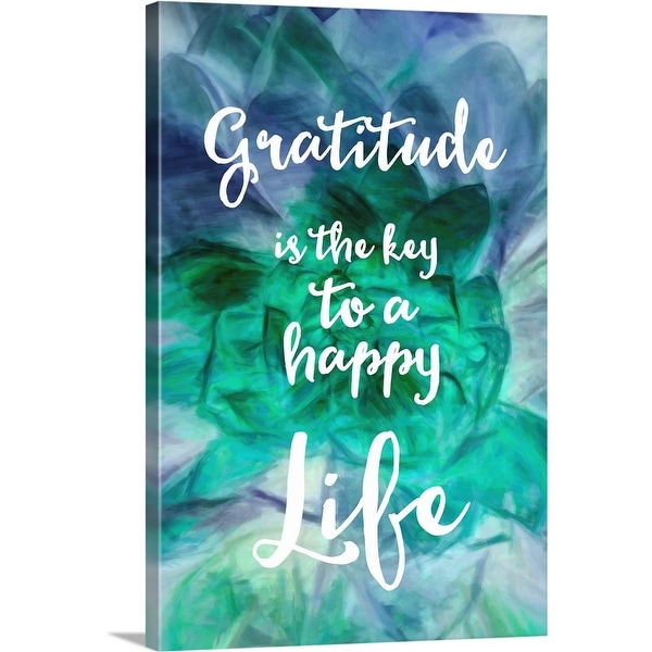 """Gratitude is the Key"" Canvas Wall Art"