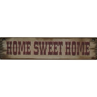 Cowboy Signs Wood Wall Hanging Rustic Home Sweet Home White Brown 8036