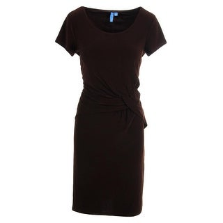 B Slim Womens Wear to Work Dress Matte Jersey Slimming - M