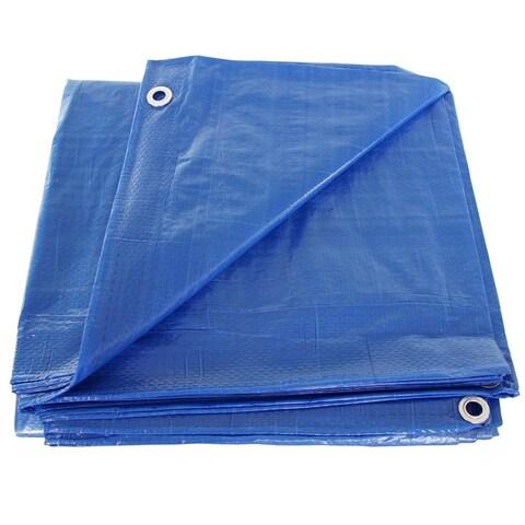 Hygrade MT-2040 Multiple Use Tarpaulin, 40' X 40' Poly Tarp, Blue