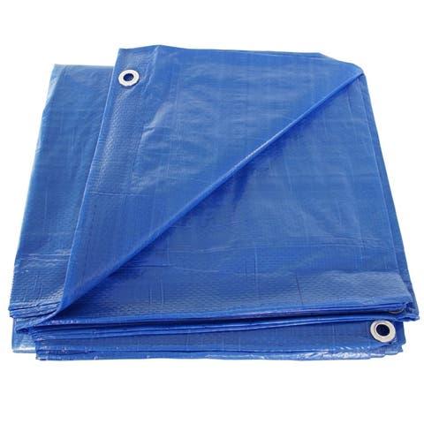 Hygrade MT-2040 Multiple Use Tarpaulin, 40' X 50' Poly Tarp, Blue