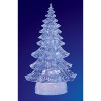 "Pack of 2 Icy Crystal Illuminated Traditional Christmas Tree Figures 12"" - CLEAR"