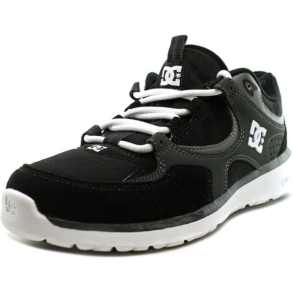 DC Shoes Kalis Lite Youth Round Toe Leather Black Skate Shoe
