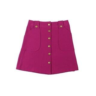 Ally B. Girls A-Line Skirt Button Front