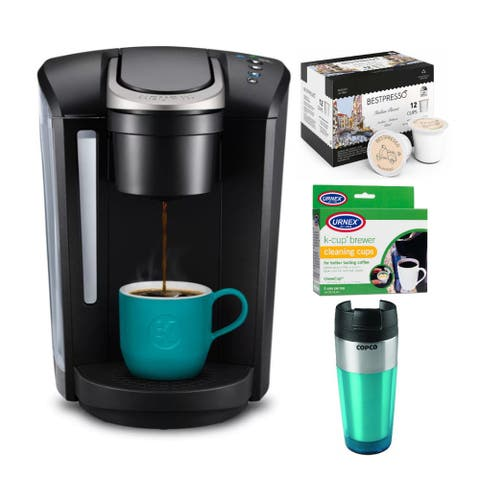 Keurig Coffee Maker w/ Single Serve K-Cup Pod Brewer & Cleaner Bundle