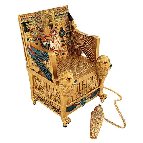 Design Toscano King Tut s Golden Throne Treasure Box