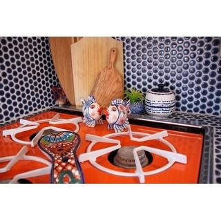 Shop SomerTile Xinch Penny Denim Blue Porcelain Mosaic - 12x12 tile shower walls