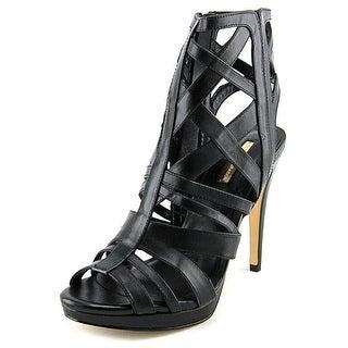 BCBGeneration Garlen Women Open Toe Leather Black Sandals