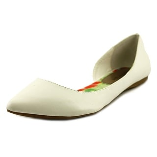 Madden Girl Eezy Women Pointed Toe Synthetic White Flats