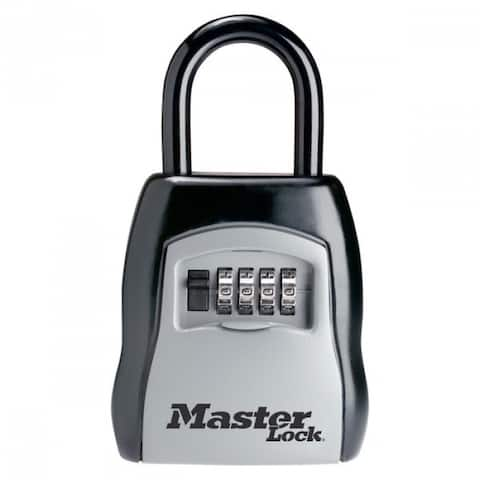 "Master Lock 5400D Set Your Own Combination Portable Lock Box, 3-1/4"" Wide"