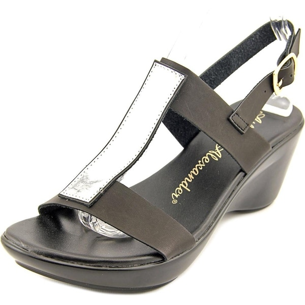 Athena Alexander Tomie Women  Open Toe Synthetic Black Wedge Sandal
