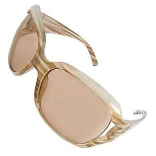 Ladies Oversize Lens Plastic Frame Shopping Sunglasses