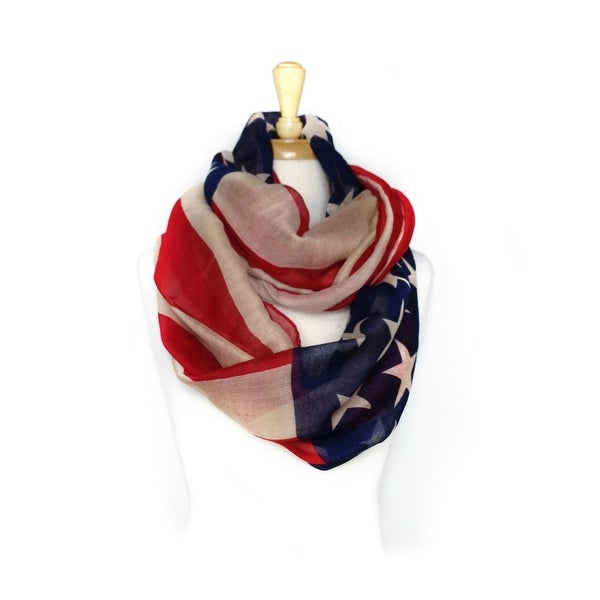 Women's American Flag Infinity Scarf