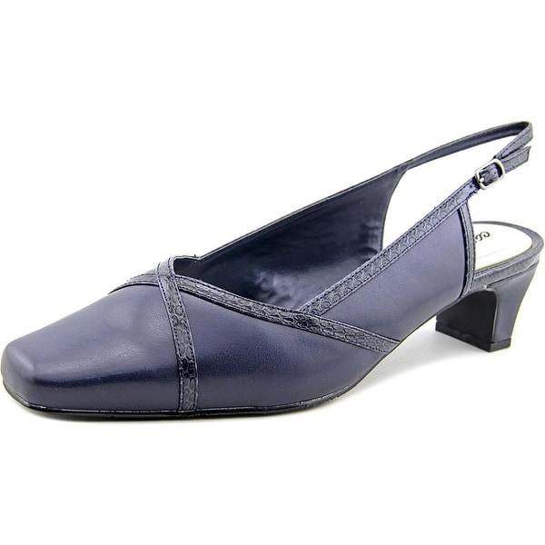 Easy Street Taylor Women WW Square Toe Synthetic Slingback Heel