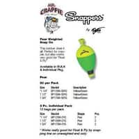Betts Mr.Crappie Snappers Wgt 1.25' Pear 2ct Yellow/Green
