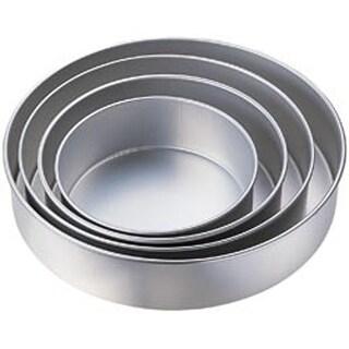 """Round 8""""; 10""""; 12""""; 14"""" - 4-Tier Deep Cake Pan Set"""