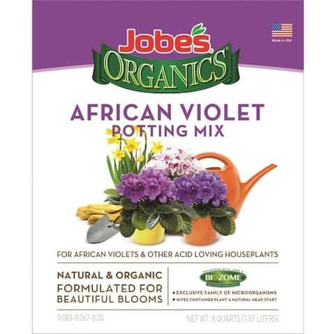 Easy Gardener 08798 Jobeâs Organics African Violet Potting Mix, 8 Quart