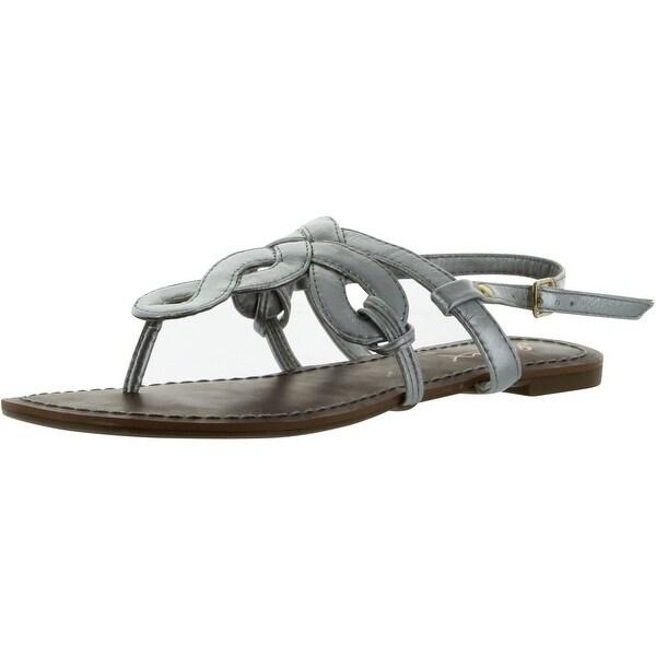Gomax Women's Berdine 80 Thong Sandal - Silver