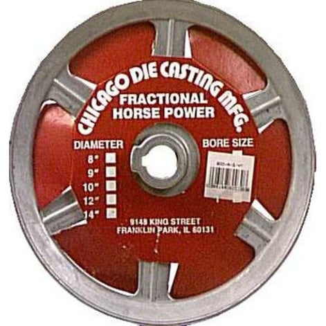 Shop Chicago Die Casting 800a6 Single V Grooved Pulley 8