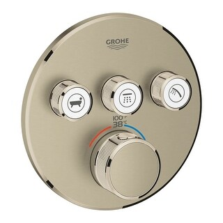 Grohe 29 138 Grohtherm Triple Function Thermostatic Valve Trim Only with SmartCo